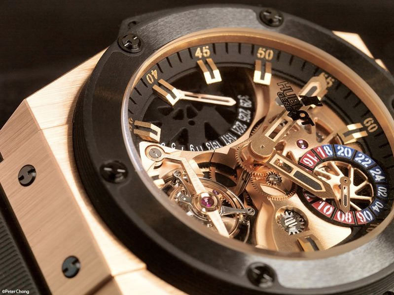 Hulot Gold King Power Tourbillon GMT