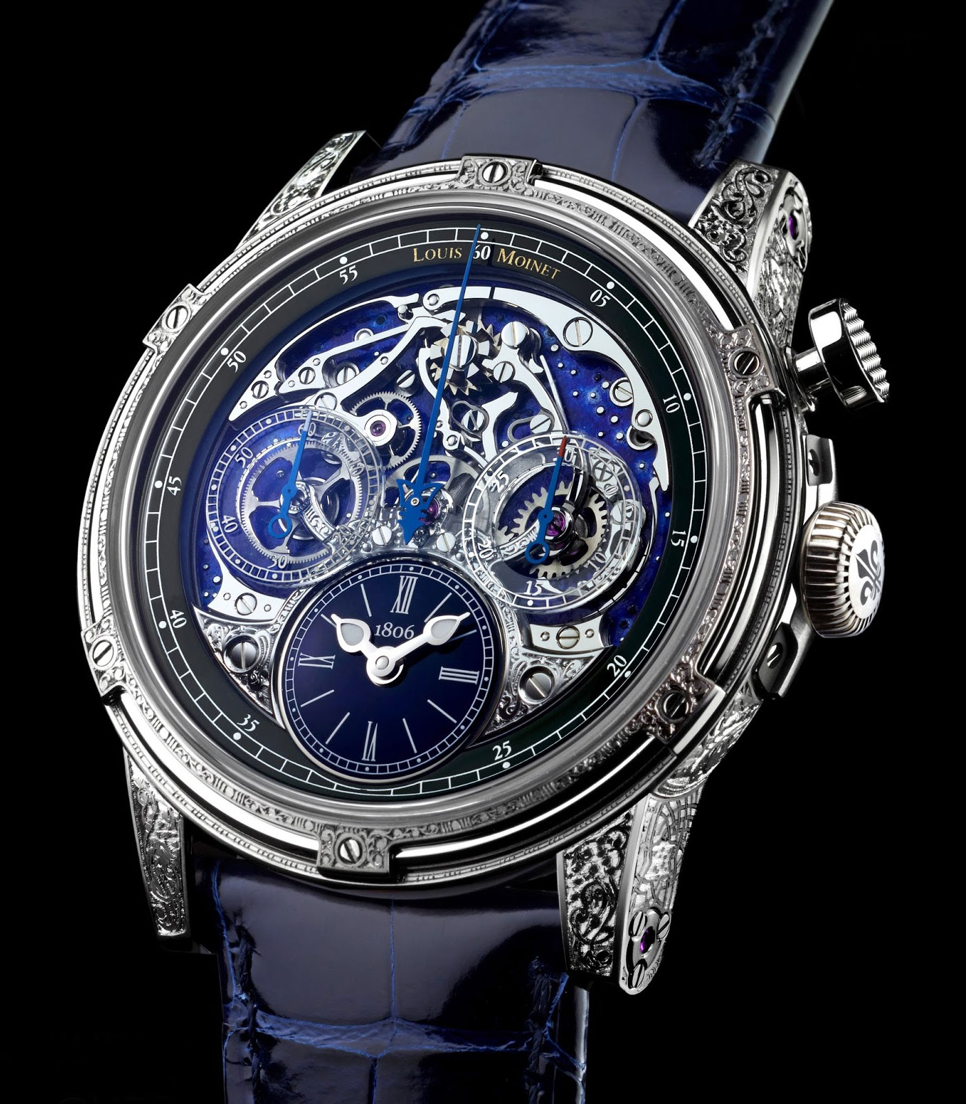 LOUIS MOINET MEMORIS RED ECLIPSE WITHE GOLD