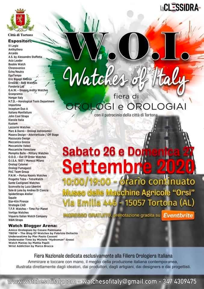 WoI watches of Italy 2020