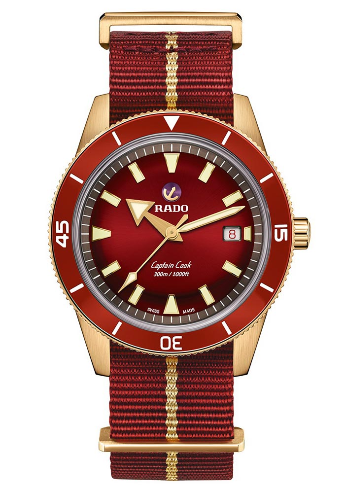 RADO CAPTAIN COOK BRONZO BORDEAUX